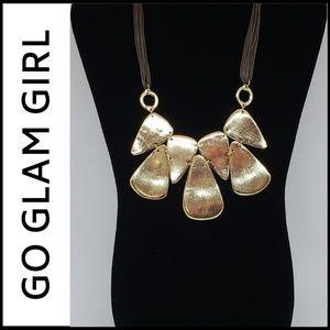 NWT REVERSIBLE GEOMETRIC Vegan Leather Necklace